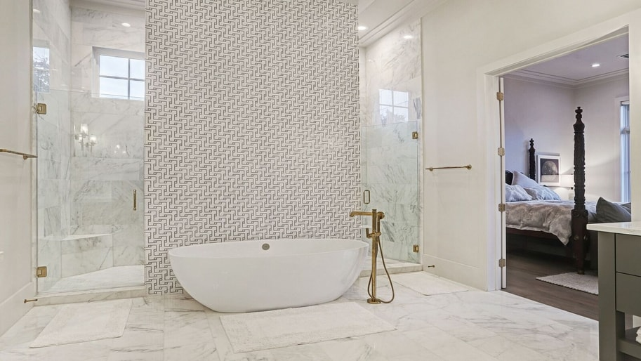 Babyproof bathroom remodeling project in Houston TX by Ashwood Designs & Custom Homes