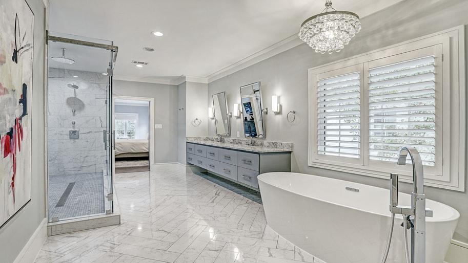 Babyproof bathroom renovation project in Houston TX by Ashwood Designs & Custom Homes